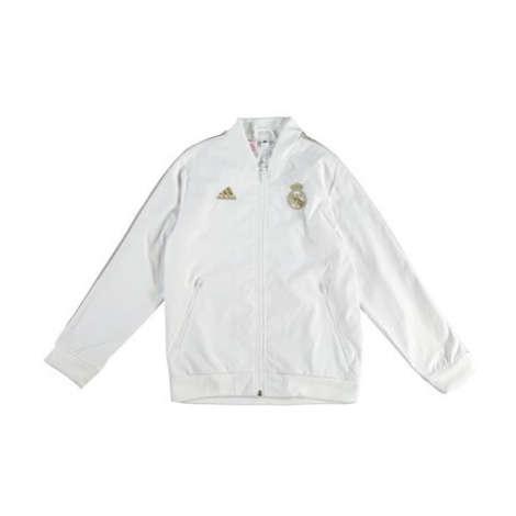 Real Madrid Anthem Jacket - White - Kids Adidas