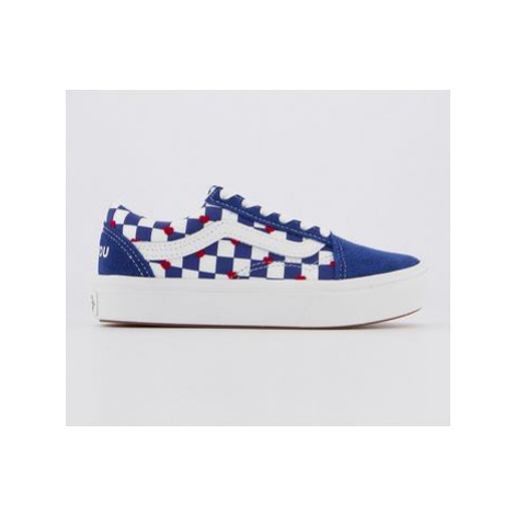 Vans Comfycush Old Skool (k) VANS HEART TRUE BLUE AUTISM AWARENESS