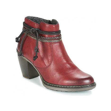 Rieker DANA women's Low Ankle Boots in Bordeaux