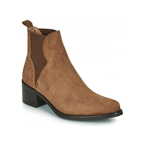 Myma PALMA women's Low Ankle Boots in Brown