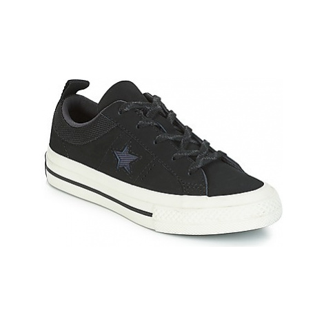 Converse ONE STAR NUBUCK OX girls's Children's Shoes (Trainers) in Black