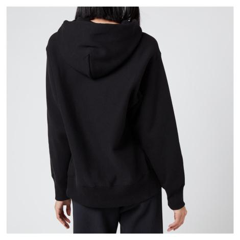 Champion Women's Small Script Hooded Sweatshirt - Black