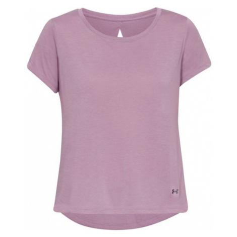 Under Armour WHISPERLIGHT SS FOLDOVER purple - Women's T-shirt