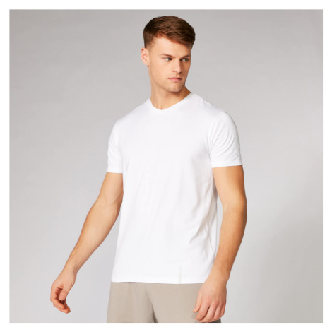 Luxe Classic V-Neck T-Shirt - White Myprotein