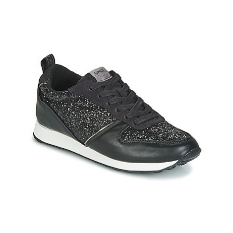 Only SILLIE GLITTER women's Shoes (Trainers) in Black