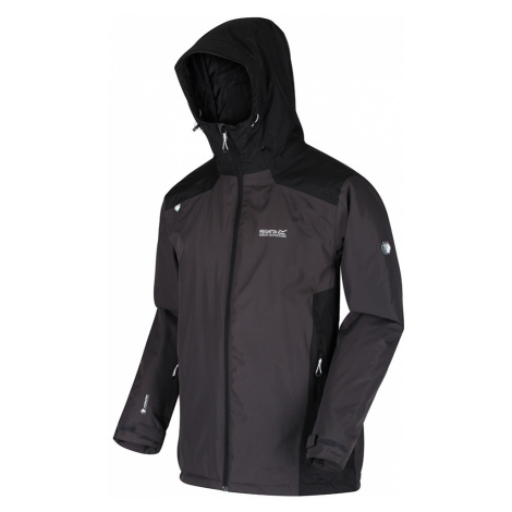 Regatta Mens Thornridge II Waterproof Insulated Jacket-Ash / Black-2XL