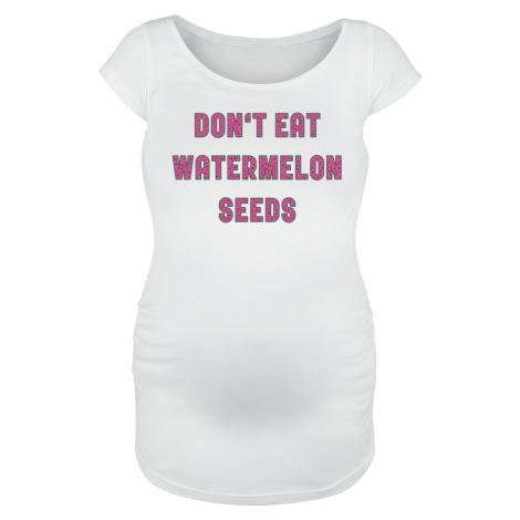 Maternity fashion - Don't Eat Watermelon Seeds - Girls shirt - white