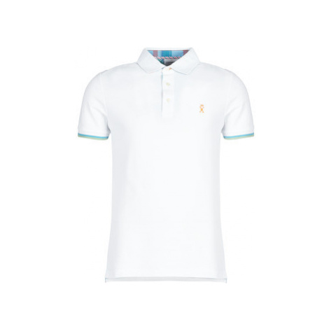Vicomte A. PETERSHAM MADRAS POLO men's Polo shirt in White