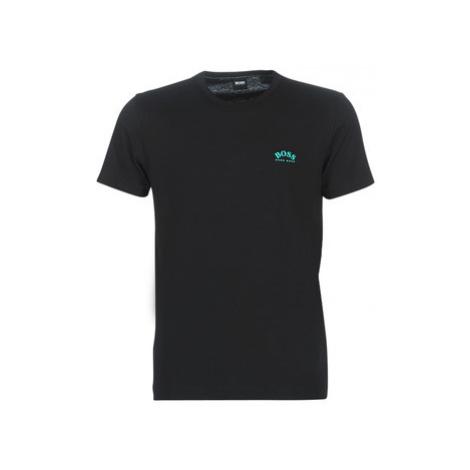 BOSS TEE CURVED men's T shirt in Black Hugo Boss