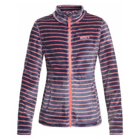 sweatshirt Roxy Igloo Zip - MHG3/Shell Pink/Teddy Stripes - girl´s