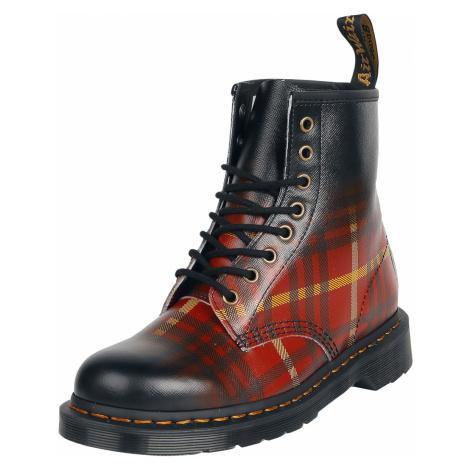 Dr. Martens - 1460 Tartan Backhand Strawgrain - Boots - black-red Dr Martens