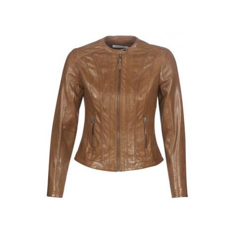 Naf Naf CHOUX 2 women's Leather jacket in Brown