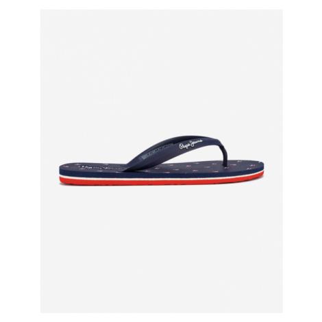 Blue men's slippers and flip-flops