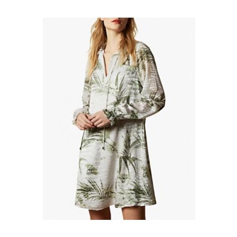 Ted Baker Glimmah Highland Swing Mini Dress, Grey