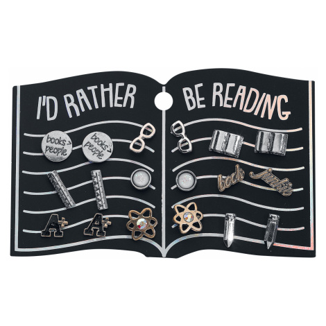 Blackheart - Rather Be Reading - Earpin set - multicolour