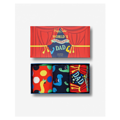 Happy Socks Father's Day Set of 3 pairs of socks Colorful