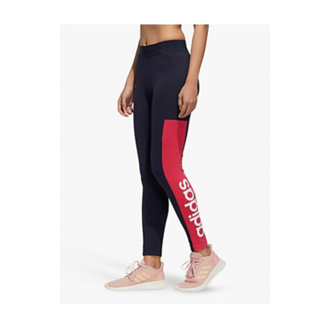 Adidas Essentials Colour Block Training Tights, Legend Ink/Power Pink/White