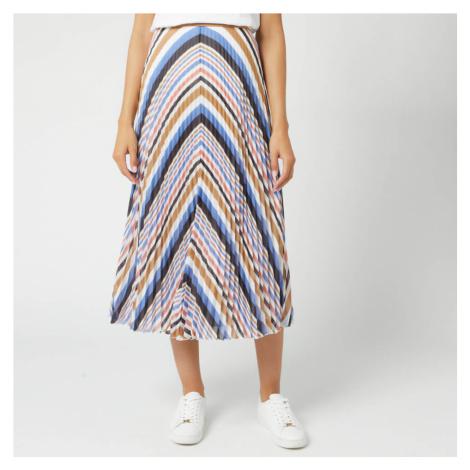 BOSS Women's Bareny Midi Skirt - Pink/Blue/Tan Hugo Boss