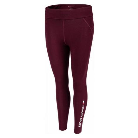 Tommy Hilfiger CO/EL 7/8 LEGGING red wine - Women's leggings