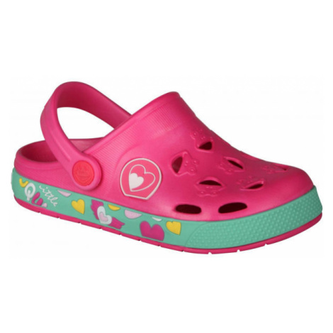 Coqui FROGGY pink - Children's sandals