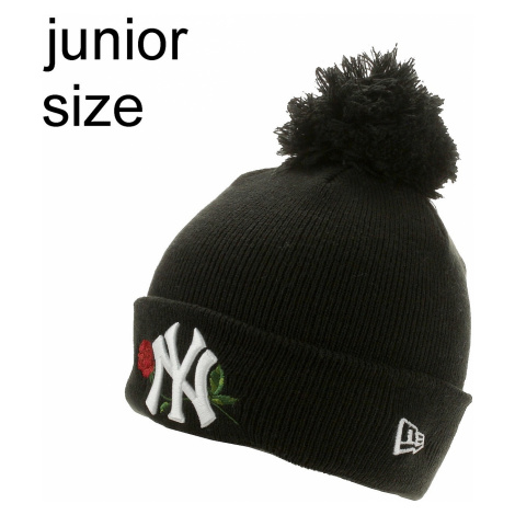 cap New Era Twine Bobble MLB New York Yankees Youth - Graphite/Official Team Colour - girl´s