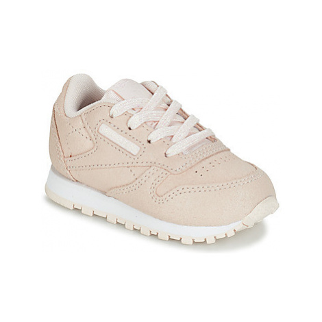 Reebok Classic CLASSIC LEATHER girls's Children's Shoes (Trainers) in Beige