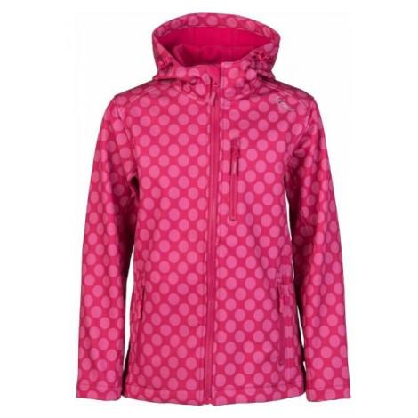 Lewro DONA pink - Girls' softshell jacket