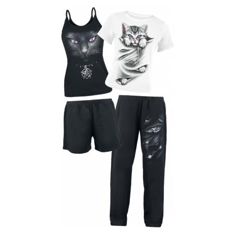 Spiral - Bright Eyes - Pyjamas - black-white