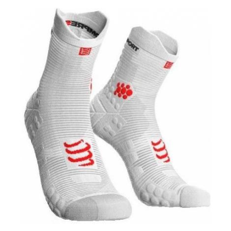 Compressport RACE V3.0 RUN HI white - Running socks