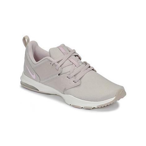 Beige women's training shoes