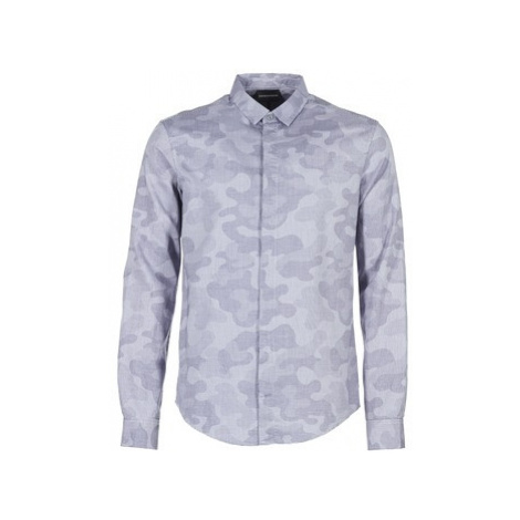Emporio Armani NARRALE men's Long sleeved Shirt in Blue