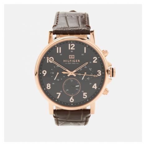 Tommy Hilfiger Men's Daniel Leather Strap Watch - Rou Black