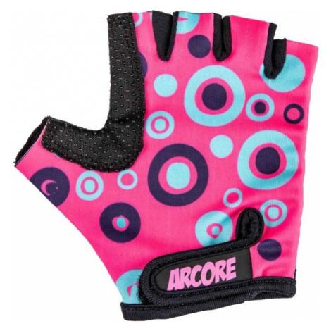 Pink girls' gloves