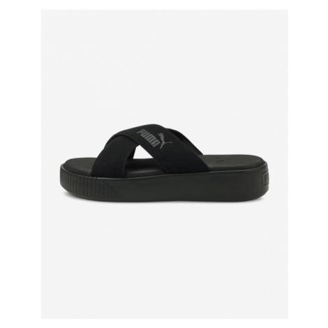 Puma Platform Slide Suede Slippers Black
