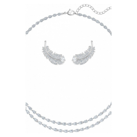 Ladies Swarovski Jewellery Nice Feather Gift Set 5517161