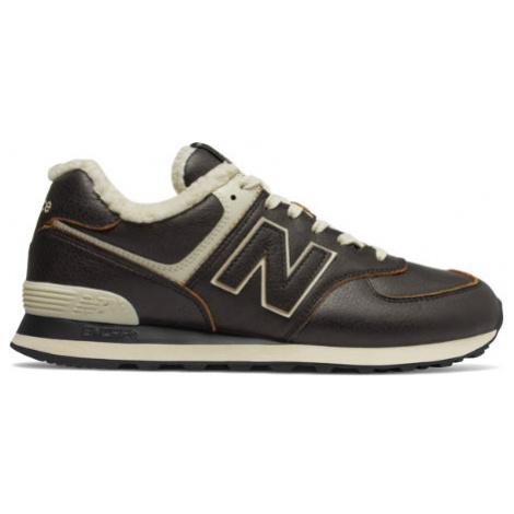 New Balance 574 Shoes - Black/Powder