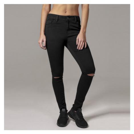 Urban Classics Ladies Cut Knee Pants black