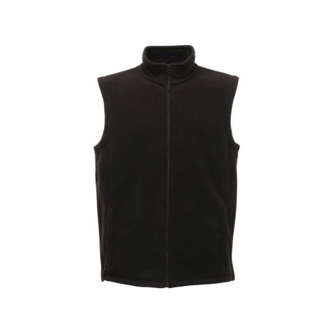 Professional Micro Fleece Body Warmer Black men's Coat in Black