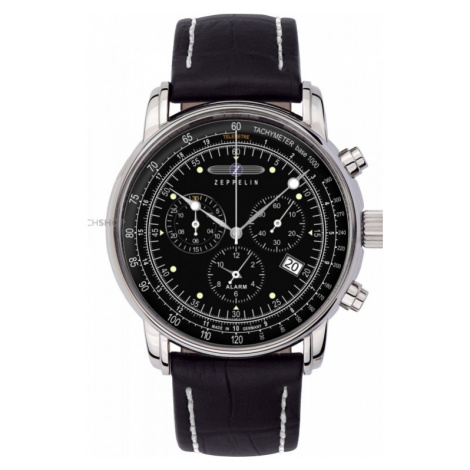 Mens Zeppelin 100 Jahre Alarm Chronograph Watch 7680-2