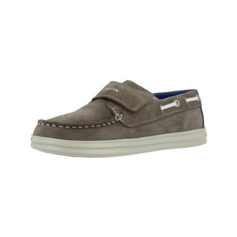 Geox J ANTHOR BOY boys's Children's Boat Shoes in Brown