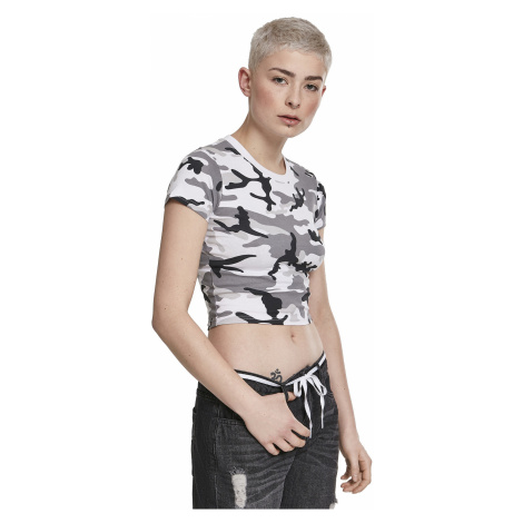T-Shirt Urban Classics Stretch Jersey Cropped/TB2755 - Snow Camouflage - women´s