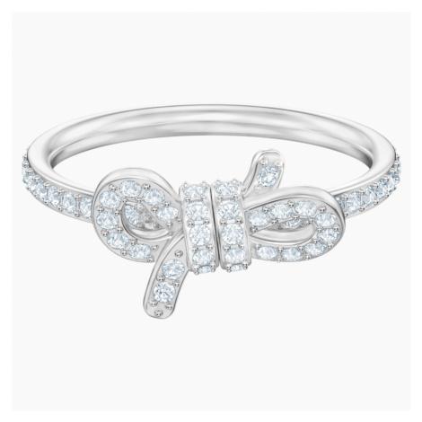 Lifelong Ring, Small, White, Rhodium plated Swarovski