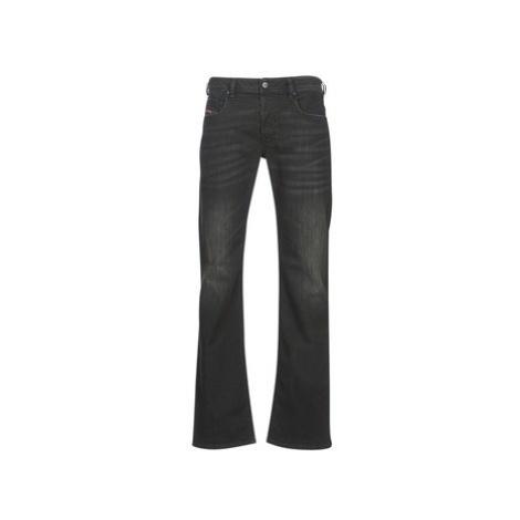 Diesel ZATINY men's Bootcut Jeans in Black