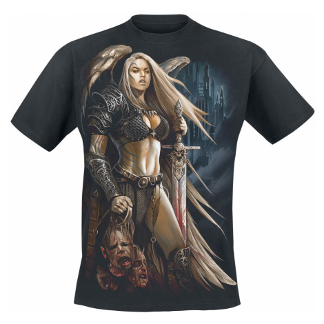 Spiral Angel Warrior T-Shirt black