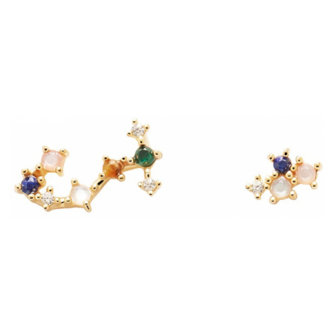 P D PAOLA Gold Plated Scorpio Constellation Earrings