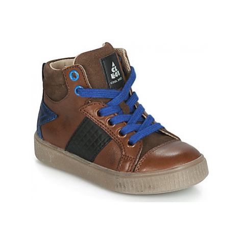 Acebo's 5290-CUERO boys's Children's Shoes (High-top Trainers) in Brown