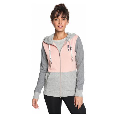 sweatshirt Roxy Dress Like You Re Colorblock Zip - MFN0/Coral Cloud - women´s