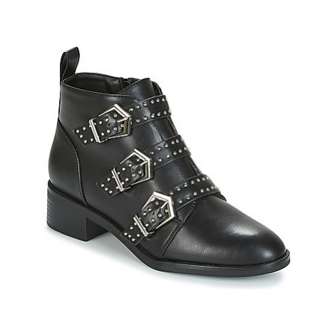 Only BRIGHT PU BOOTIE women's Mid Boots in Black