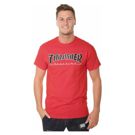 T-Shirt Thrasher Outlined - Red - men´s