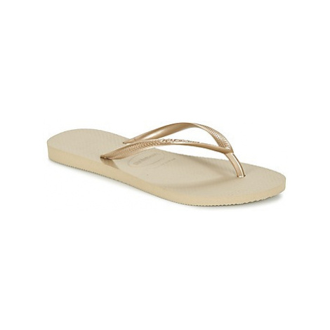 Havaianas SLIM women's Flip flops / Sandals (Shoes) in Gold